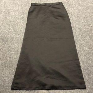 J. R. Nites long silk black skirt